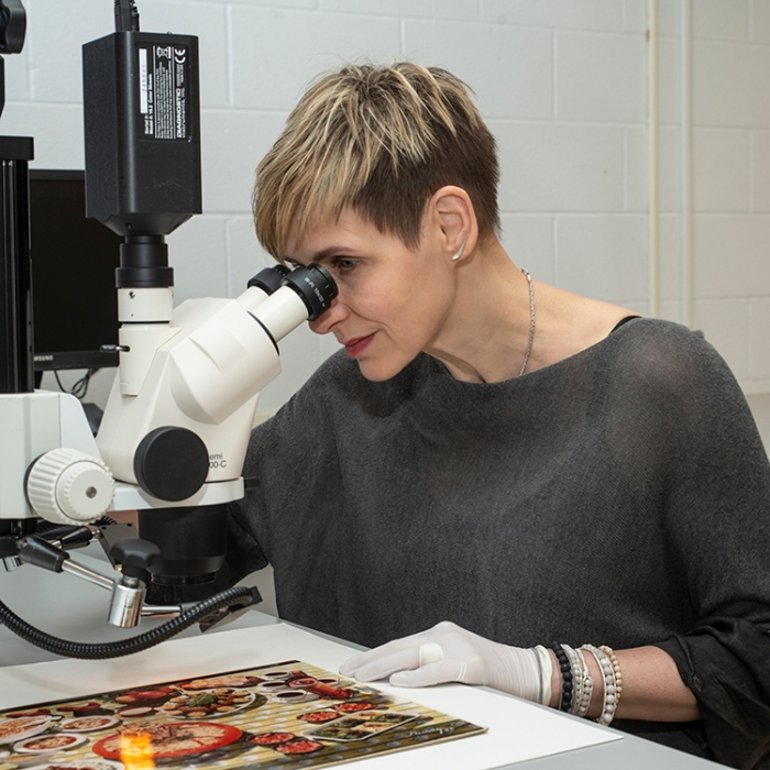 Taina Meller can't stop touching the art!  An interview with the Eastman Museum's Conservator in Charge